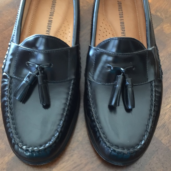 Johnston Murphy Shoes Johnston Murphy Hayes Black Tassel Dress